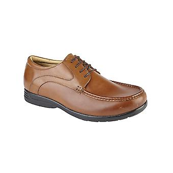 Roamers Tan Leather Xxx Extra Wide 4 Eyelet Casual Shoe