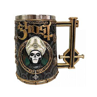 Ghost Tankard Gold Papa Emeritus Meliora Band Logo new Official Boxed