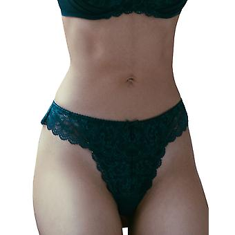 Guy de France 911757-C Women's Marine Blue Lace Thong