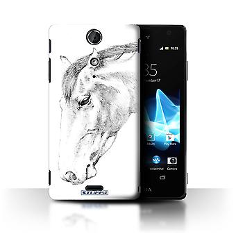 STUFF4 Case/Cover for Sony Xperia TX/LT29i/Horse/Sketch Drawing