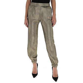 Saint Laurent 606965y279t8074 Women's Silver Nylon Pants
