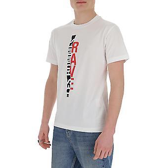 Les Hommes Lit204703p1005 Men's White Cotton T-shirt