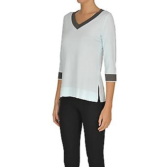 Alessandro Ezgl333027 Women's Light Blue Viscose Sweater