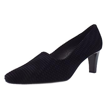 Peter Kaiser Mova Classic Mid Heel Court Shoes In Black Nico