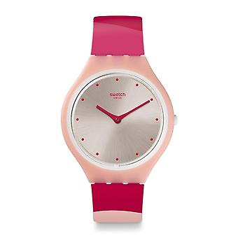 Swatch Watches Svop101 Skinset Pink Silicone Watch