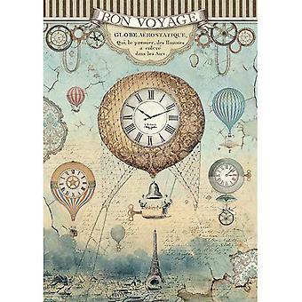 Stamperia Reis Papier Blatt A4-Voyages Fantastiques Ballon