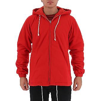 Comme Des Garçons Shirt W271732 Men's Red Polyester Outerwear Jacket
