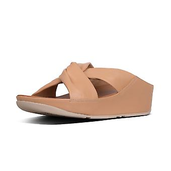 FitFlop Twiss™ Leather Slides In Blush