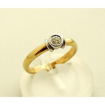 Christian gold diamond ring