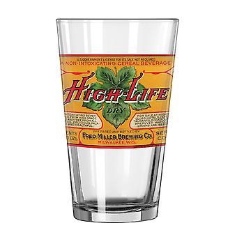Miller High Life Retro Pint Glass