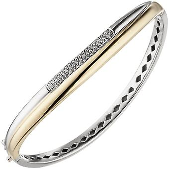 Náramek náramek 585 zlato žluté zlato bílé zlato bicolor 55 diamanty brilantní