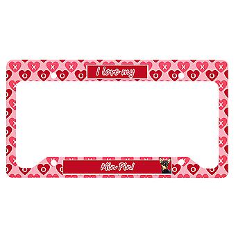 Carolines Treasures  LH9155LPF Min Pin Valentine's Love and Hearts License Plate