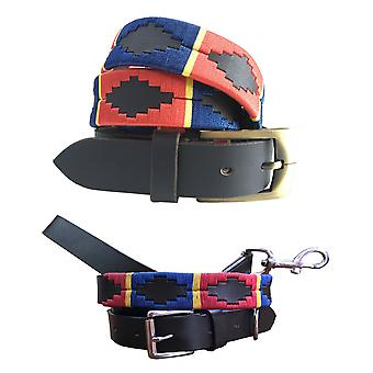 Carlos diaz polo belt dog collar and lead set bundle cdpbhk73 & cdhkplc73