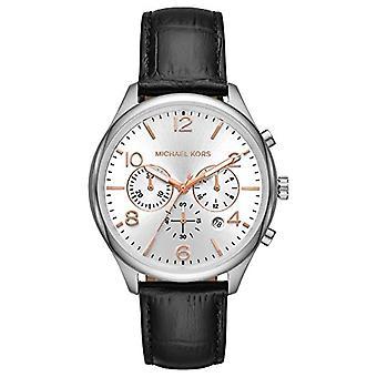 Michael Kors Chronograph Quarz Herrenuhr mit Lederband MK8635