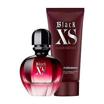 Paco rabanne zwarte xs edp-s 50ml + bodylotion 75ml