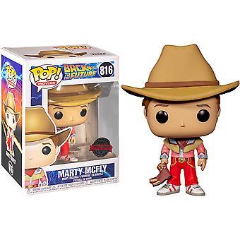 Geri Gelecek Marty McFly Cowboy ABD Excl Pop için! Vinil
