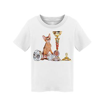 Abyssinian Kitten With Trophies Tee Toddler's -Image by Shutterstock