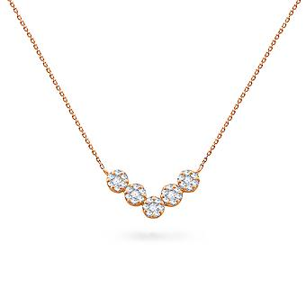 Necklace Victory Cluster Diamonds 18K Gold