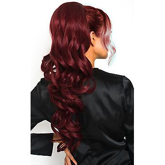 IKRUSH Womens Kyla Long Curly Ponytail Hair Extensions