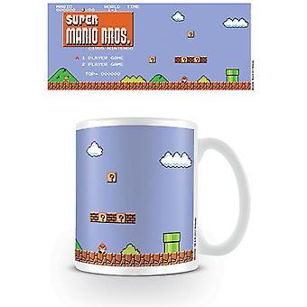 سوبر ماريو بروس 1 NES الرجعية عنوان القدح