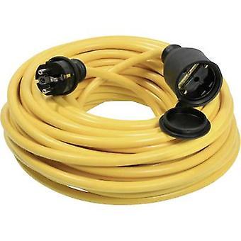as - Schwabe 60354 Przedłużenie przewodu prądowego 16 A Żółty 20,00 m