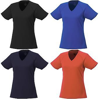 Höj dam/damer Amery Kortärmad cool Fit V-neck T shirt