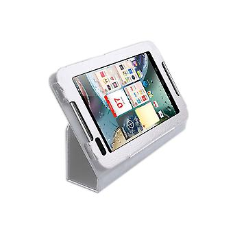 "Magnetic PU Leather Case Stand for Lenovo IdeaTab A1000 7""[White]"
