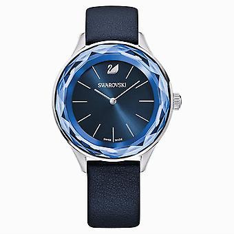 Swarovski 5295349 Sininen Ruostumaton teräs Nahkahihna Octea Nova Hyvät Watch