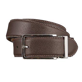 OTTO KERN belts men's belts leather belt dark brown 2960