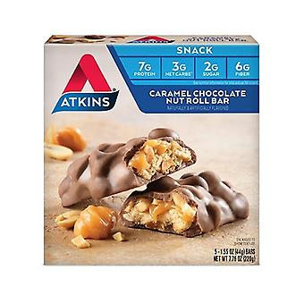 Atkins snack bar caramel ciocolata piuliță roll