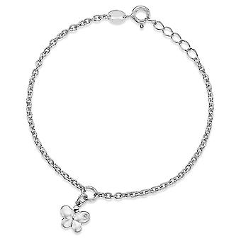 Lily & Lotty For Girls Sterling Silver 0.01ct Diamond MOLLY Bracelet