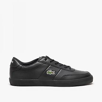 Lacoste Court-master 0120 1 Mens Leather Trainers Black