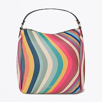 Paul Smith  - Leather Swirl Mini Hobo Bag - Multi