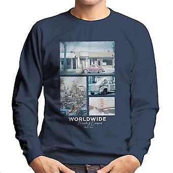 Teilen & erobern weltweit Retro Foto Männer's Sweatshirt