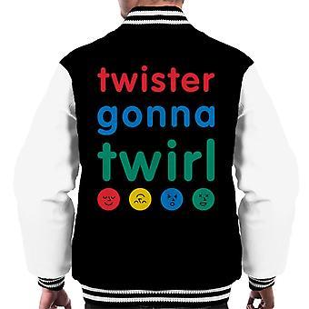 Twister menossa pyörittää miesten&s Varsity Takki