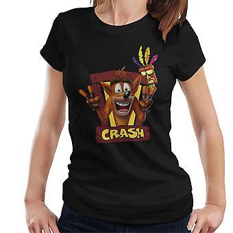 Crash Bandicoot Aku Aku Frame Women's T-Shirt