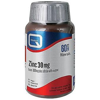 Quest Vitamins Zinc Citrate Tablets 60 (601394)