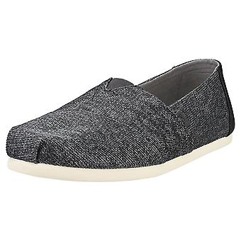 Toms Classic Shade Technical Knit Hombres Slip On Zapatos en Negro