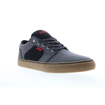 Etnies Barge Behouden Mens Gray Canvas Low Top Lace Up Skate Sneakers Schoenen