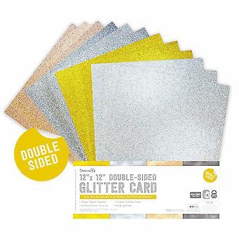 Dovecraft Doppelseitig Glitter Stoßstange Pack 12 x 12 Zoll Metallics
