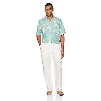 28 Palms Men's Relaxed-Fit Linen Pant med dragsko, Grädde, XX-Large/32