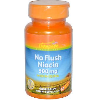 Thompson, No Flush Niacin, 500 mg, 30 Vegetarian Capsules