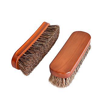 Bőr cipő karbantartás speciális puha kefe barna
