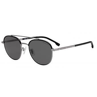 Okulary przeciwsłoneczne Mężczyźni 1069/F/SR81/M9 Męski matowy czarny/srebrny