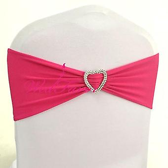 Chair Sash Ribbons With Heart Buckle For Party, Wedding