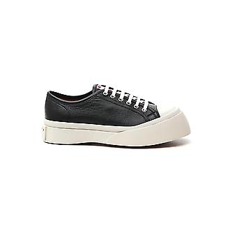 Marni Snzw003020p376500n99 Women's Black Leather Sneakers