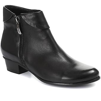 Regarde Le Ciel Womens Stefany-03 Heeled Leather Ankle Boots