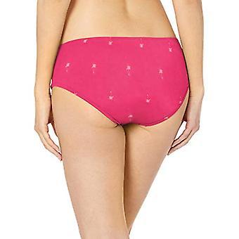 Essentials Kobiety&S Hipster Bikini Strój kąpielowy Bottom, Różowe Palmy, L
