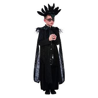 Chłopcy Deluxe Raven Prince Fancy Dress Kostium