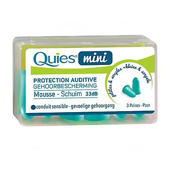 Quies Mini Ear Protection Foam 3 Pairs